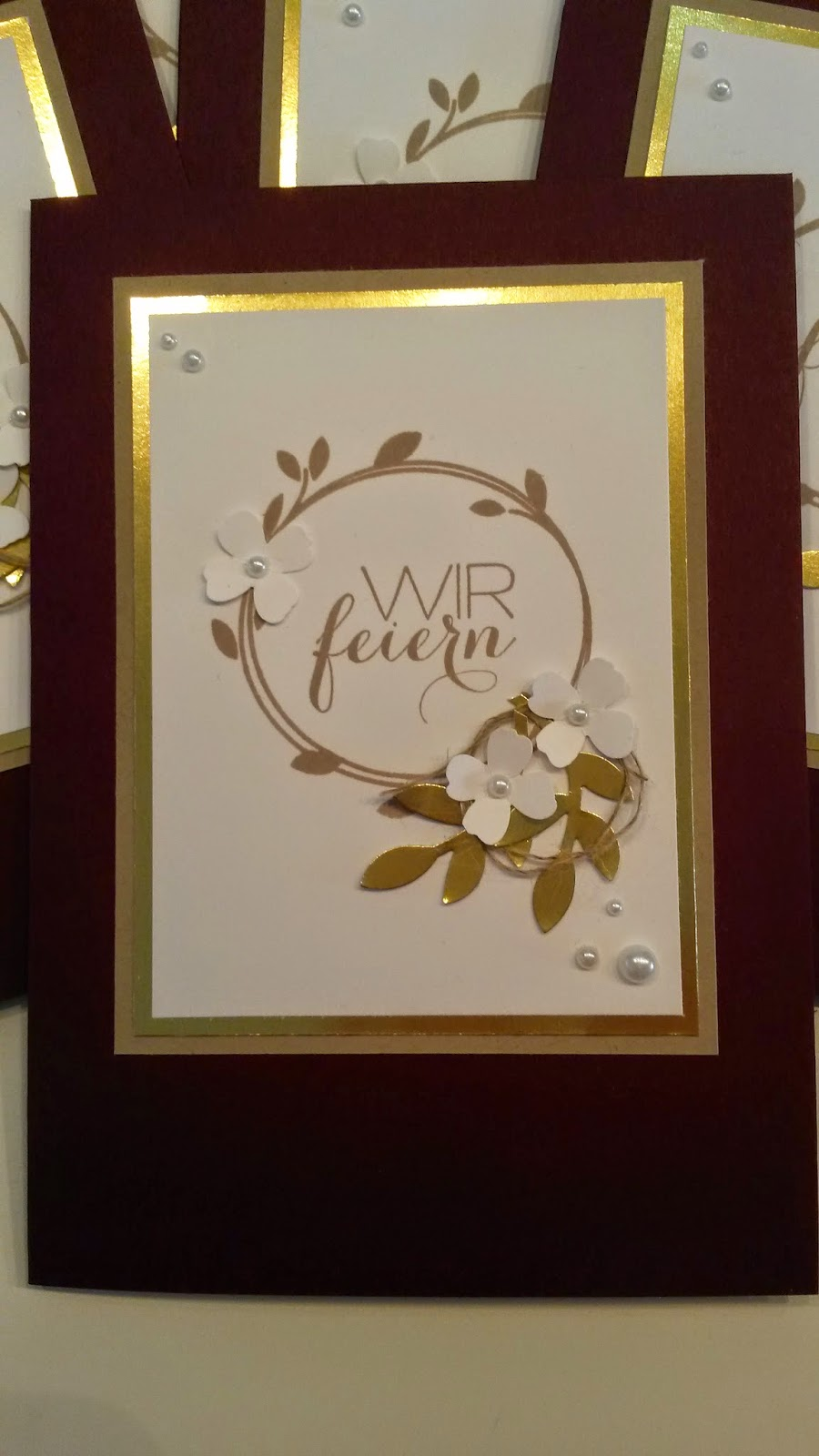 Papierträume Stempelliebe Goldene Hochzeit