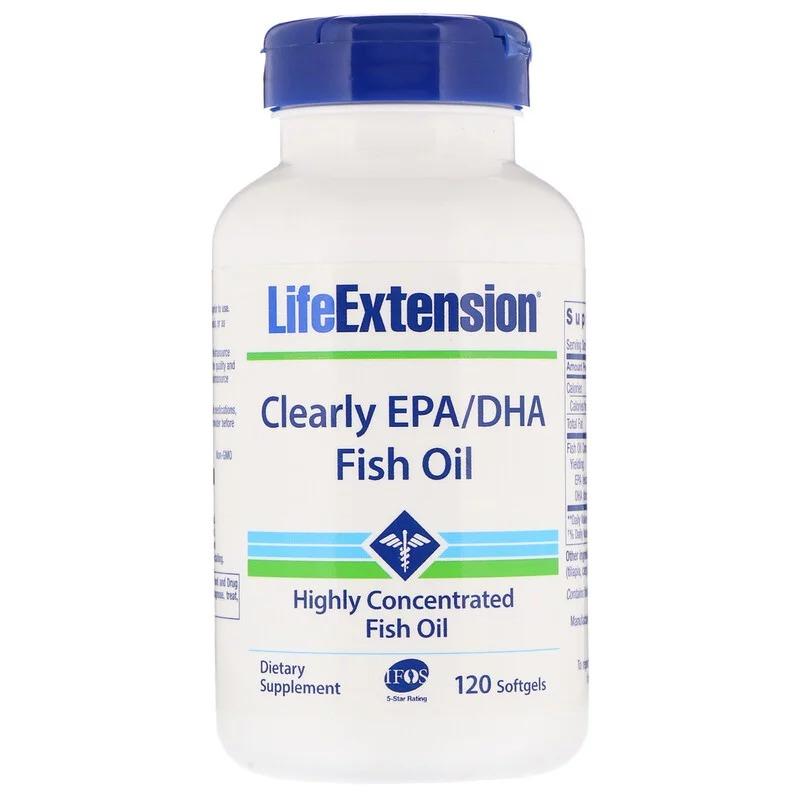 Life Extension, Чистые ЭПК и ДГК из рыбьего жира, 120 мягких таблеток