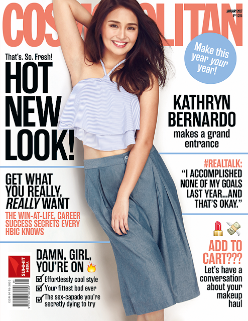 Kathryn Bernardo COSMOPOLITAN January 2017 Cover
