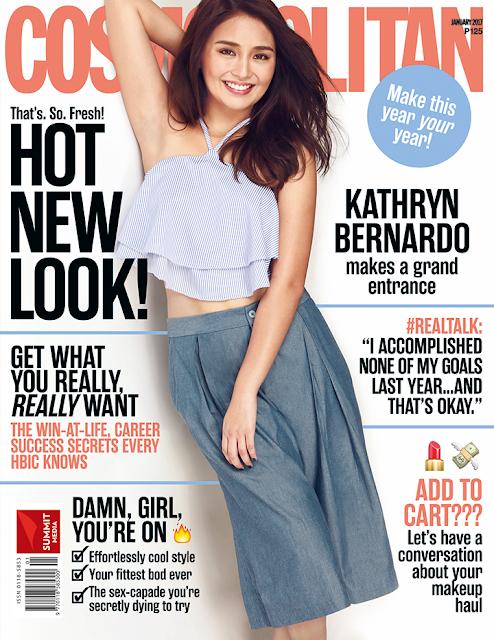 Kathryn Bernardo COSMOPOLITAN January 2017 Cover