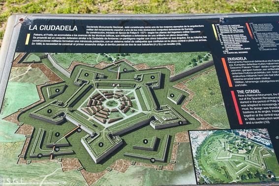 Mapa de la ciudadela de Pamplona. Pamplona mucho mas que Sanfermines
