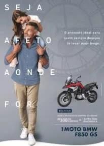 Promoção Shopping Pátio Paulista Dia dos Pais 2019 Moto BMW 0 KM