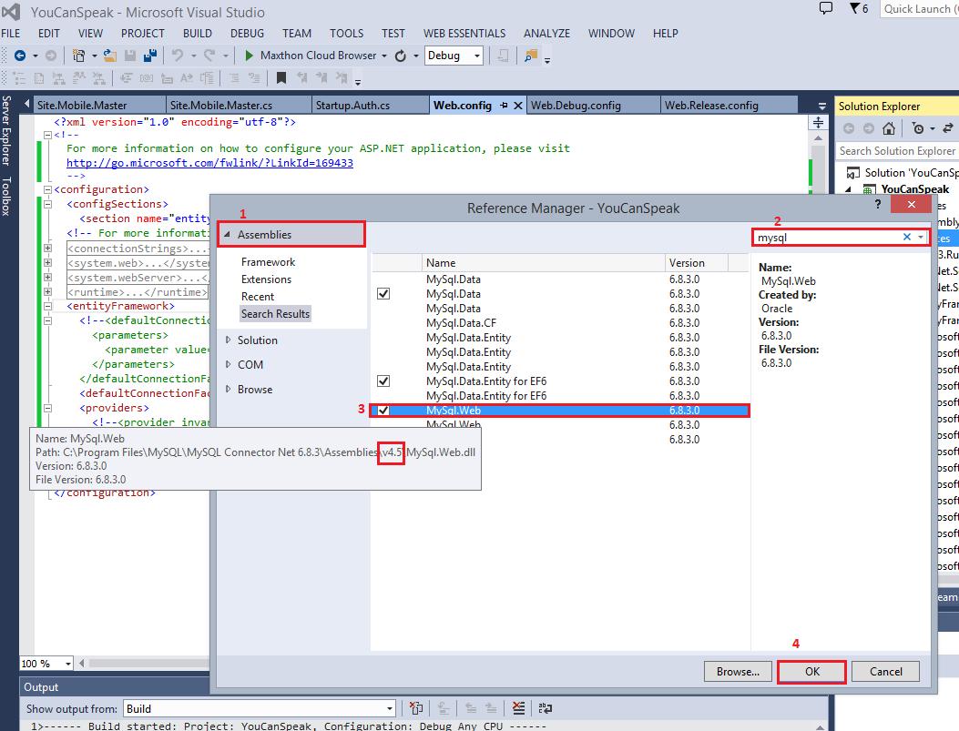 Aprenda a fazer referência Entity Framework 6 (para MySQL