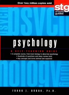 Psychology - A Self-Teaching Guide PDF Books By Frank J. Bruno