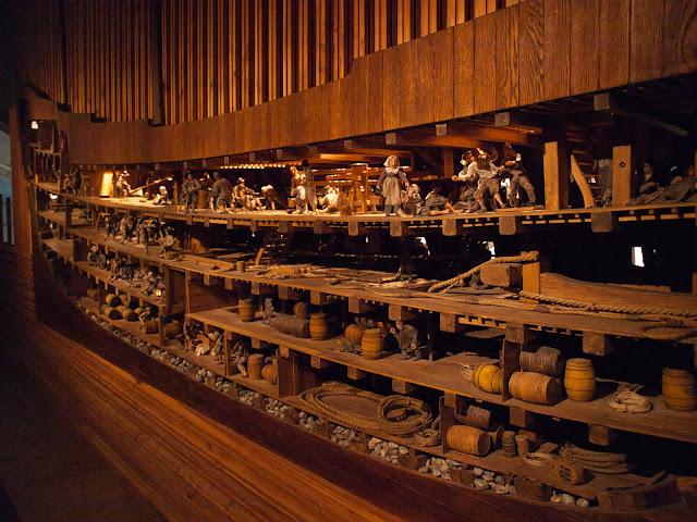 jiemve, Vasa, bâteau, musée, coup longitudinale