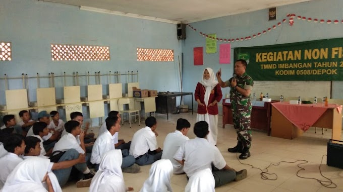 Satgas TMMD Ingatkan Pelajar Wajib Bela Kedaulatan NKRI