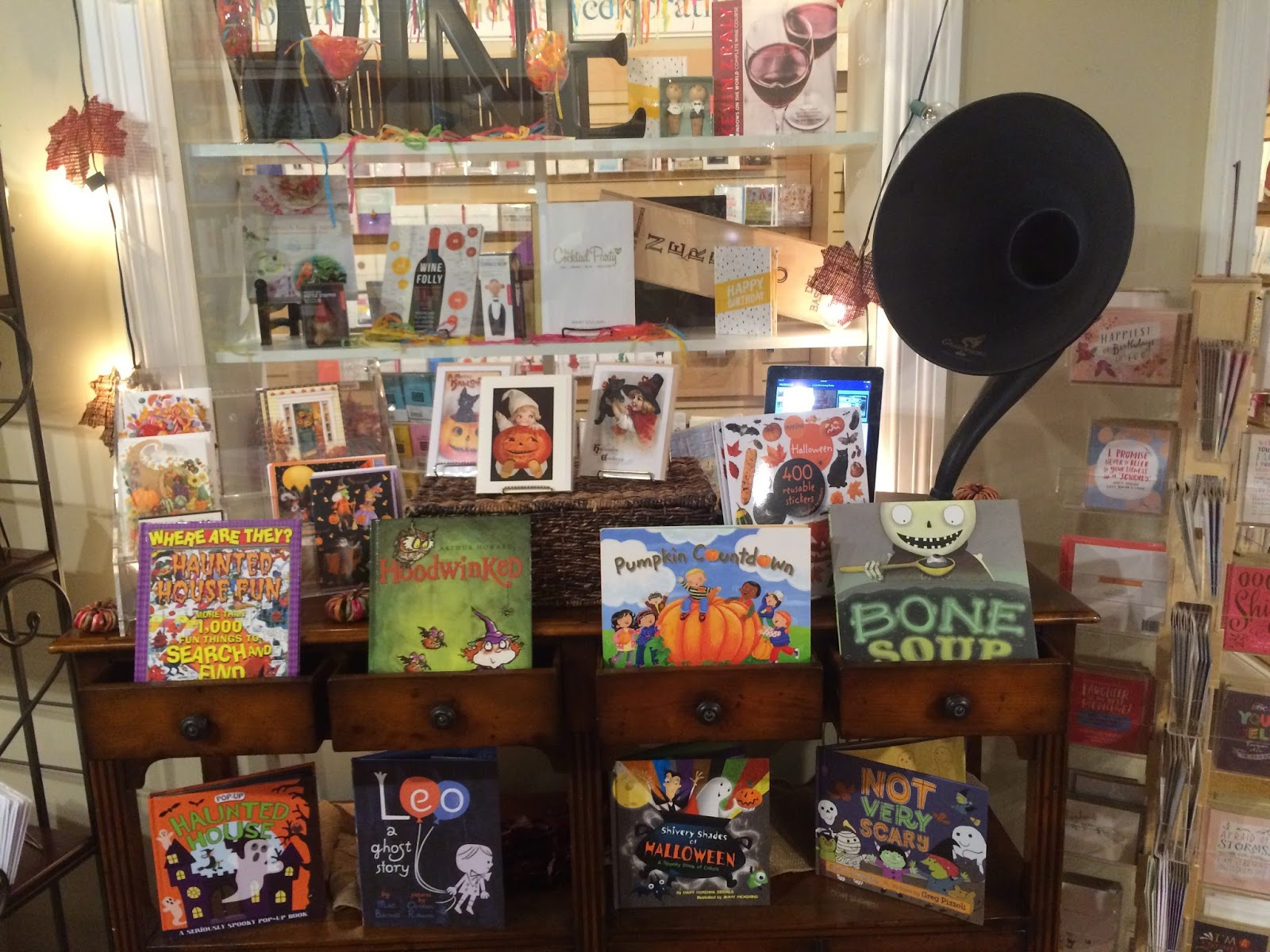 2) There's Nothing Like Great Background Music In A Bookstore And The Old  Fashioned Gramophone Speaker You See On The Right Side Of