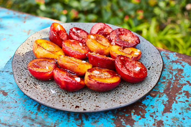 Honey Roasted Peaches and Plums