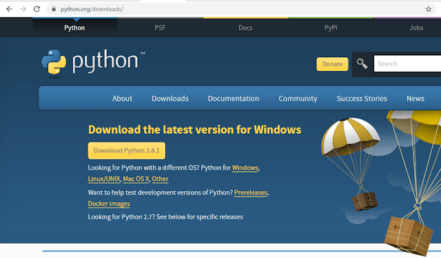 Run python program in terminal