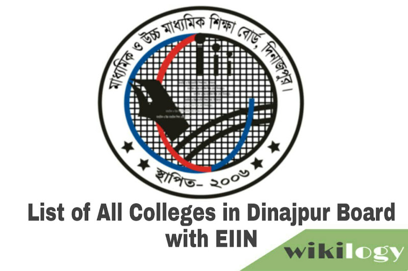 List of College in Dinajpur Board with EIIN & all Govt College