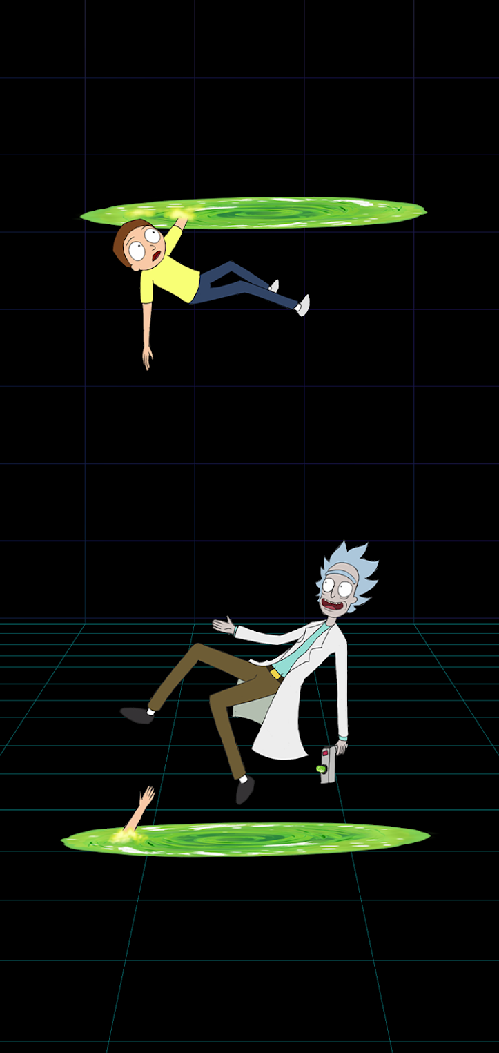 rick and morty wallpaper black for mobile phone 4k