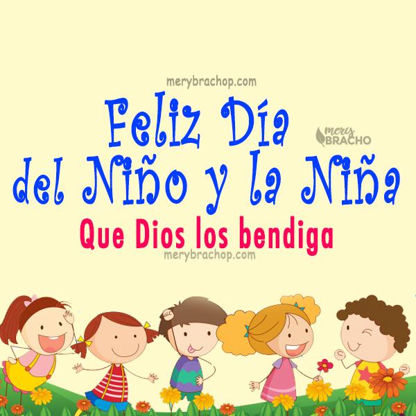 tarjeta imagen bonita de feliz dia para los niños bendiciones de Dios