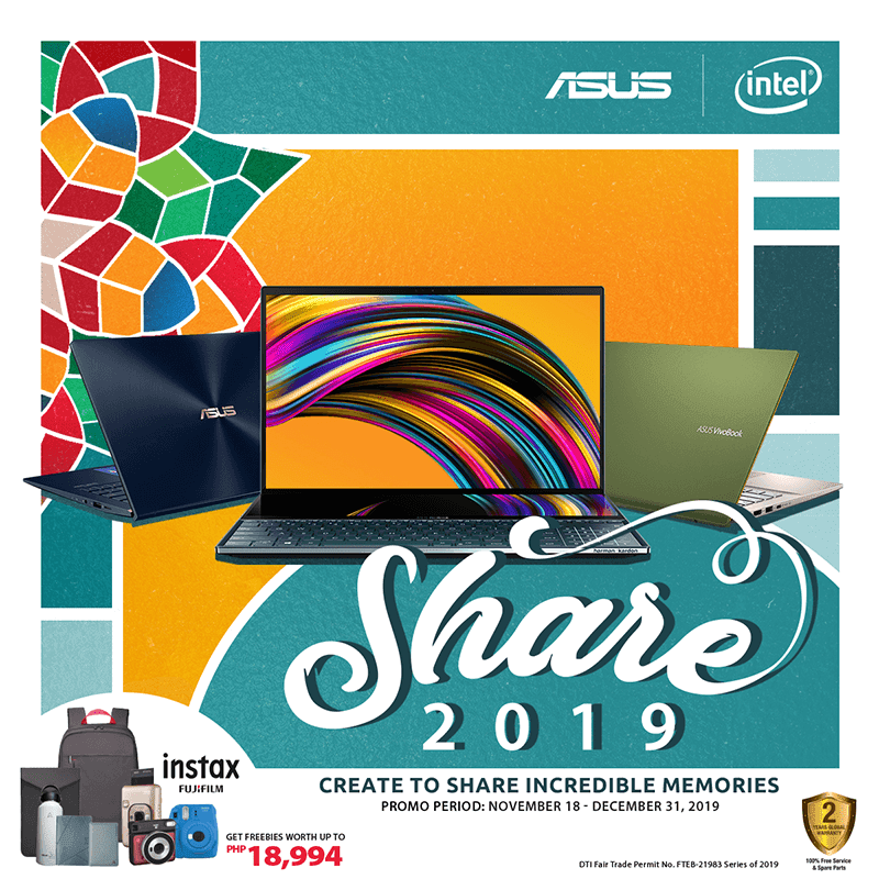FREE Fujifilm instax Camera bundle when you buy an ASUS laptop