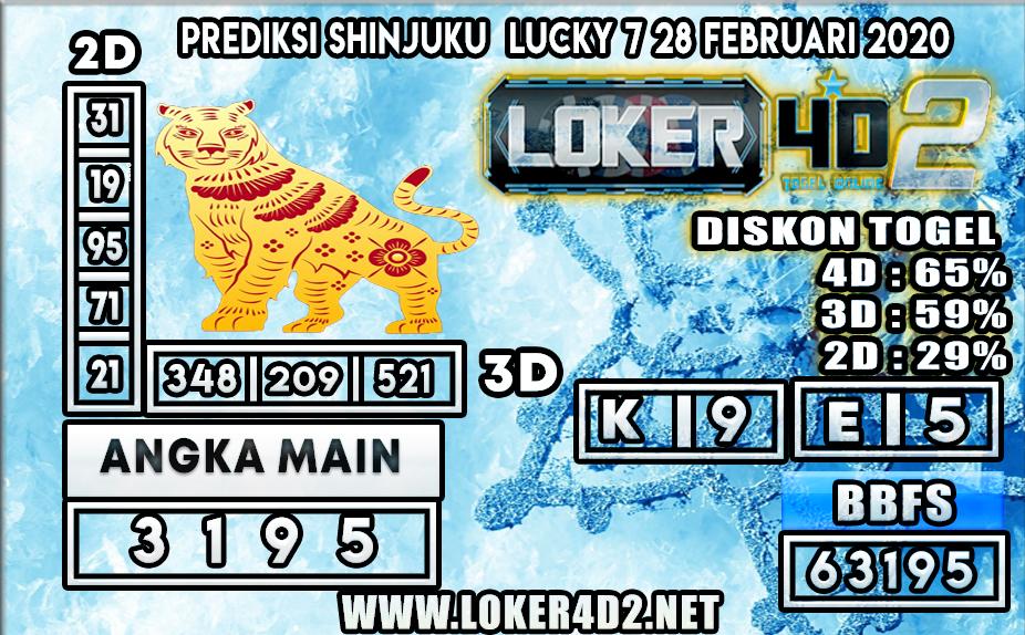 PREDIKSI TOGEL SHINJUKU LUCKY 7  LOKER4D2 28 FEBRUARI 2020