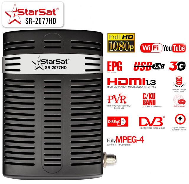 Mise a  jour SATRSAT SR-2077HD  v1015  03/09/17