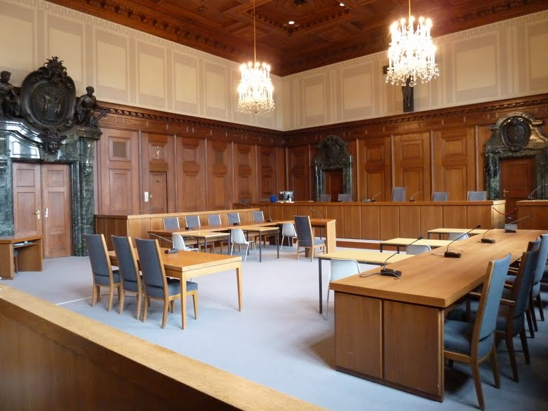 Another view of courtroom 600 in Nuremberg Germany