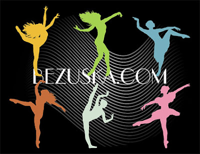 Dancing silhouette peoples vector