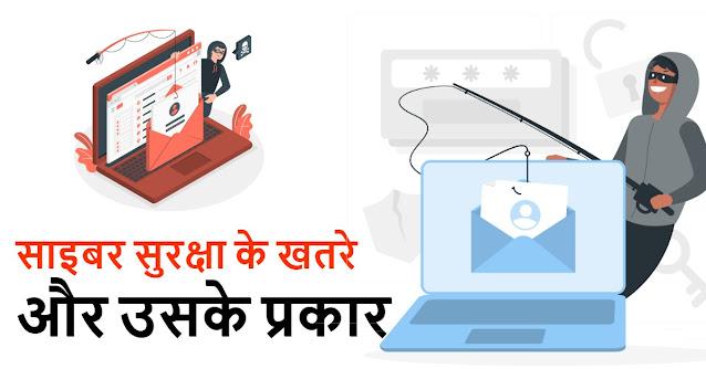 Types of Cyber Security Threats, साइबर सुरक्षा खतरे और उसके प्रकार