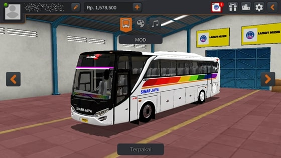 Livery JBHD2 New Setra MD Creation Sinar Jaya
