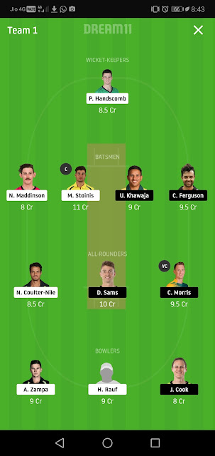 "STA vs THU Dream11 SL team "" ""STA vs THU Dream11 Team"" Gl Best Player and SL key Players,"