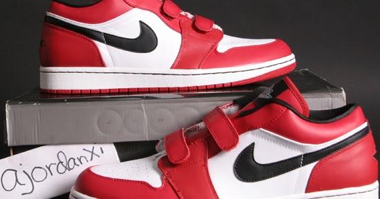 c2482b4bb426 ajordanxi Your  1 Source For Sneaker Release Dates  Air Jordan I Retro Low  Velcro White Black-Varsity Red (2008)