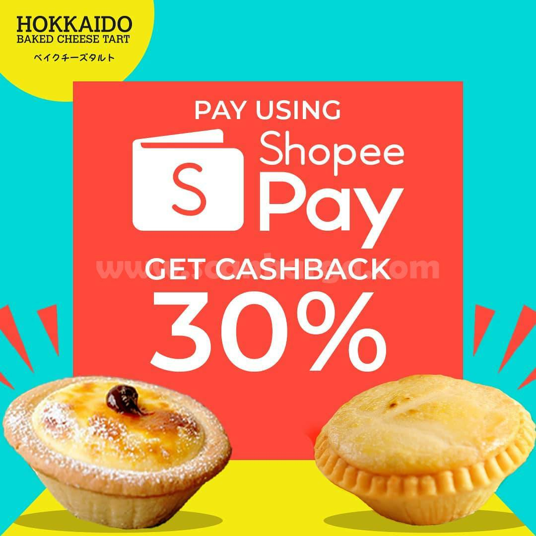 Promo Hokkaido Baked Cheese Tart Cashback 30% pakai ShopeePay