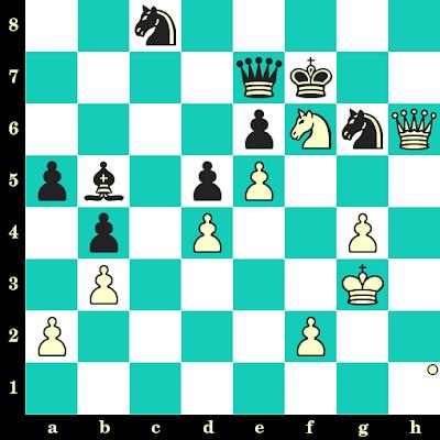 Les Blancs jouent et matent en 2 coups - Robert Fischer vs Oscar Panno, Buenos Aires, 1970