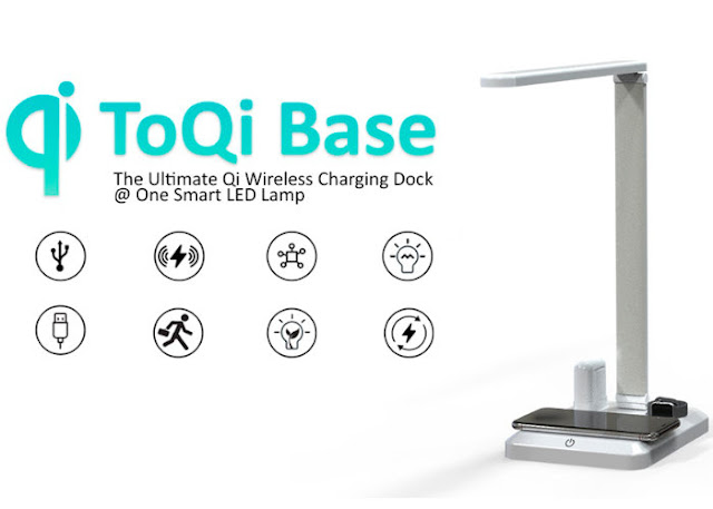 ToQi Base wireless charger and desk lamp