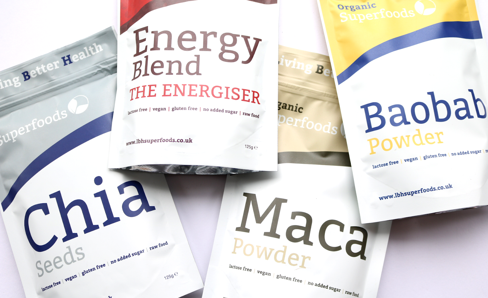 Living Better Health Superfoods - Chia Seeds, Energy Blend Energiser, Baobab & Maca review