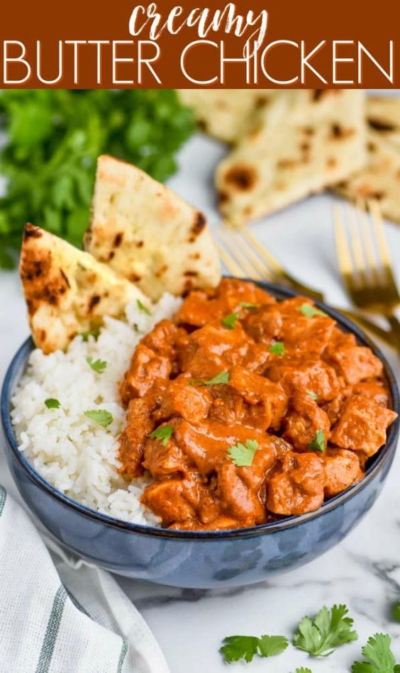 This Butter Chicken Recipe is so easy and so delicious. It's the perfect weeknight meal. Better than take out, you'lll love making this Indian Butter Chicken at home!