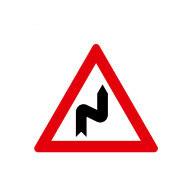 Опасные повороты (сначала правый)