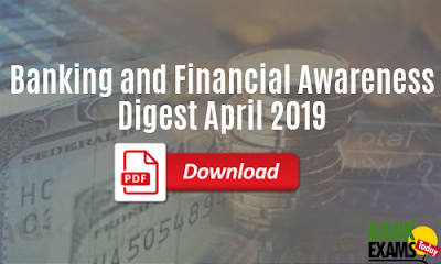 Banking and Financial Awareness: April 2019