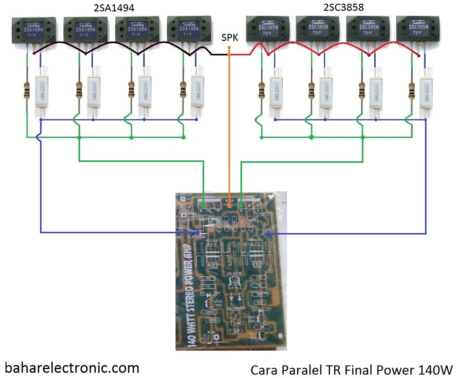 Cara Paralel Tr Final Power 140w Bahar Electronic