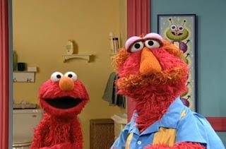 Elmo asks Louie if Elmo used always a toilet or no. Sesame Street Elmo's Potty Time