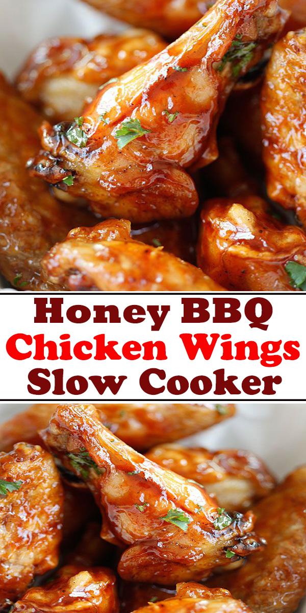 Honey BBQ Slow Cooker Chicken Wings #Honey #BBQ #SlowCooker #Chicken #Wings #HoneyBBQSlowCookerChickenWings ##pressurecooker #instantpot #chickenbreast #recipe #easy #chicken