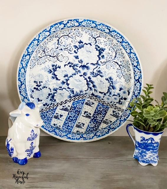 Ming Dynastyorcelain plate tin tray chrysanthemum pattern