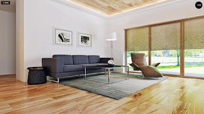 Nội thất phòng khách sử dụng ghế sofa lớn