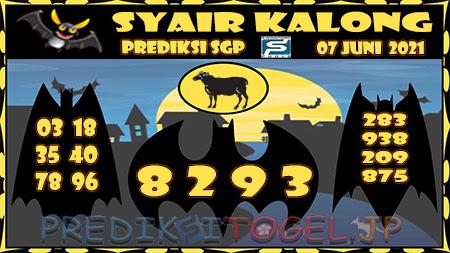 Syair Kalong SGP Senin 07-Jun-2021
