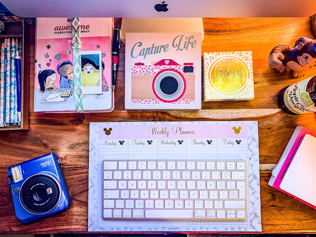 The desk of Mandy Charlton, Photographer, Writer, Blogger, brexit stockpiling