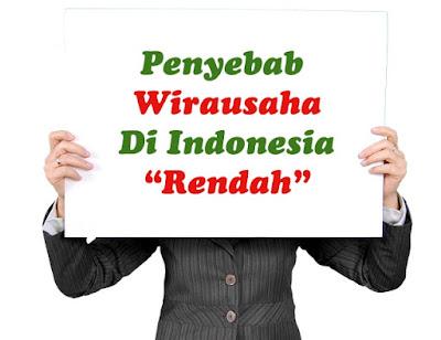 4 Penyebab Jumlah Wirausaha di Indonesia Rendah