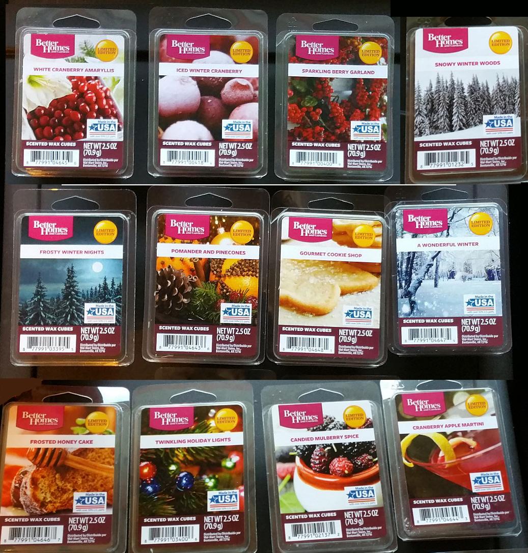 Scented Wax Melt Reviews: Better Homes & Gardens (Walmart) Winter ...