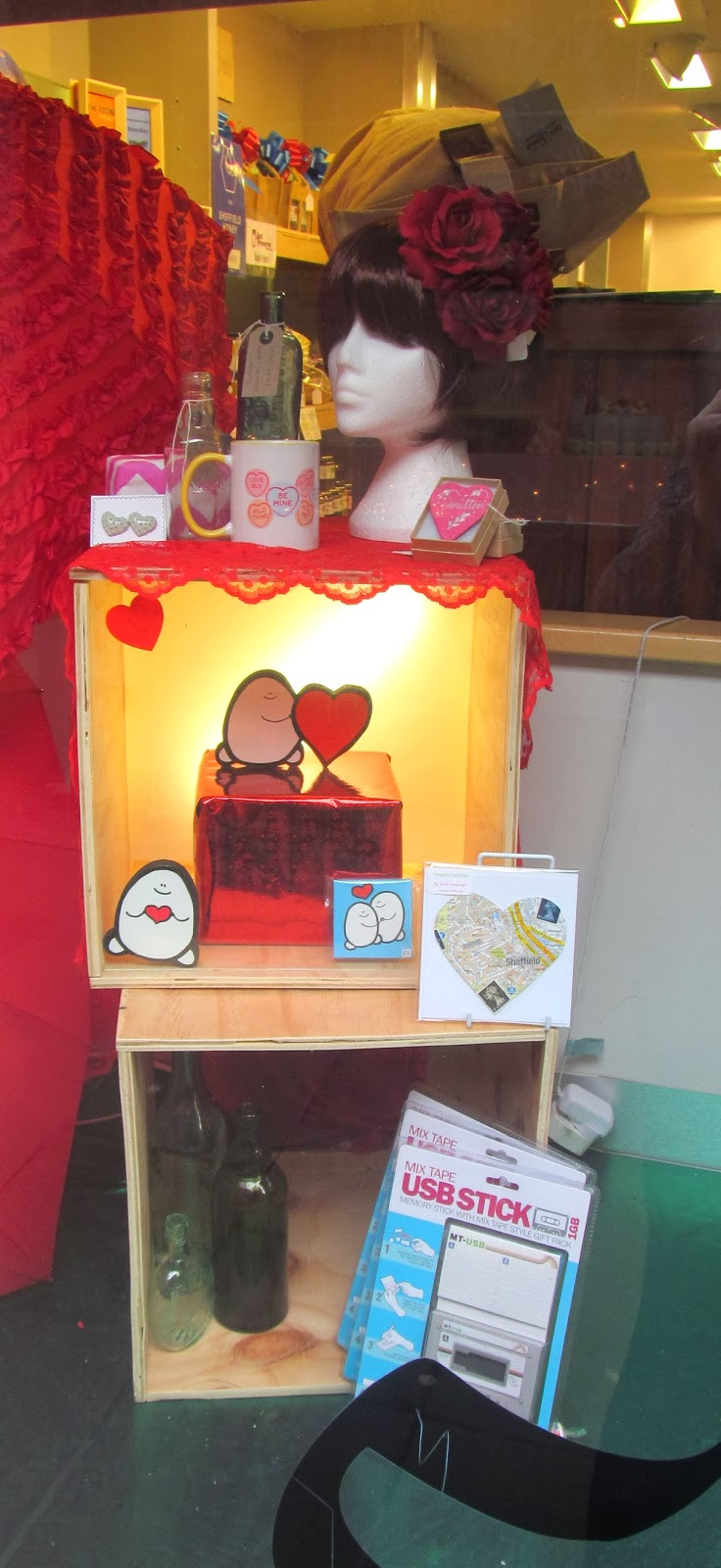 Bird's Yard Sheffield Valentine's window