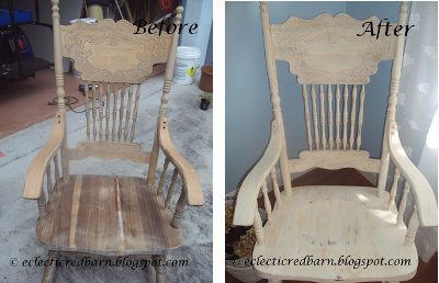 Eclectic Red Barn: Rocking chair - before and after pictures