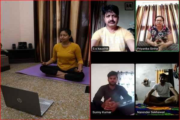 faridabad-corona-virus-infected-policemen-yoga-classes