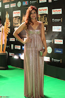 Telugu Actress Aarthi in Deep Neck Backless Golden Gown at IIFA Utsavam Awards 2017 Exclusive 50.JPG