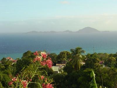 Vue sur les Iles des Saintes, Guadeloupe