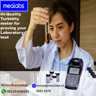 Alat pengukur turbidity meter pada cairan atau air