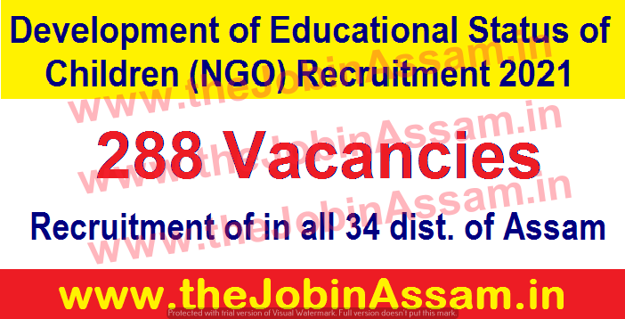 DESC NGO Recruitment 2021: Apply for 288 Coordinator, Manager, Representatives Vacancies