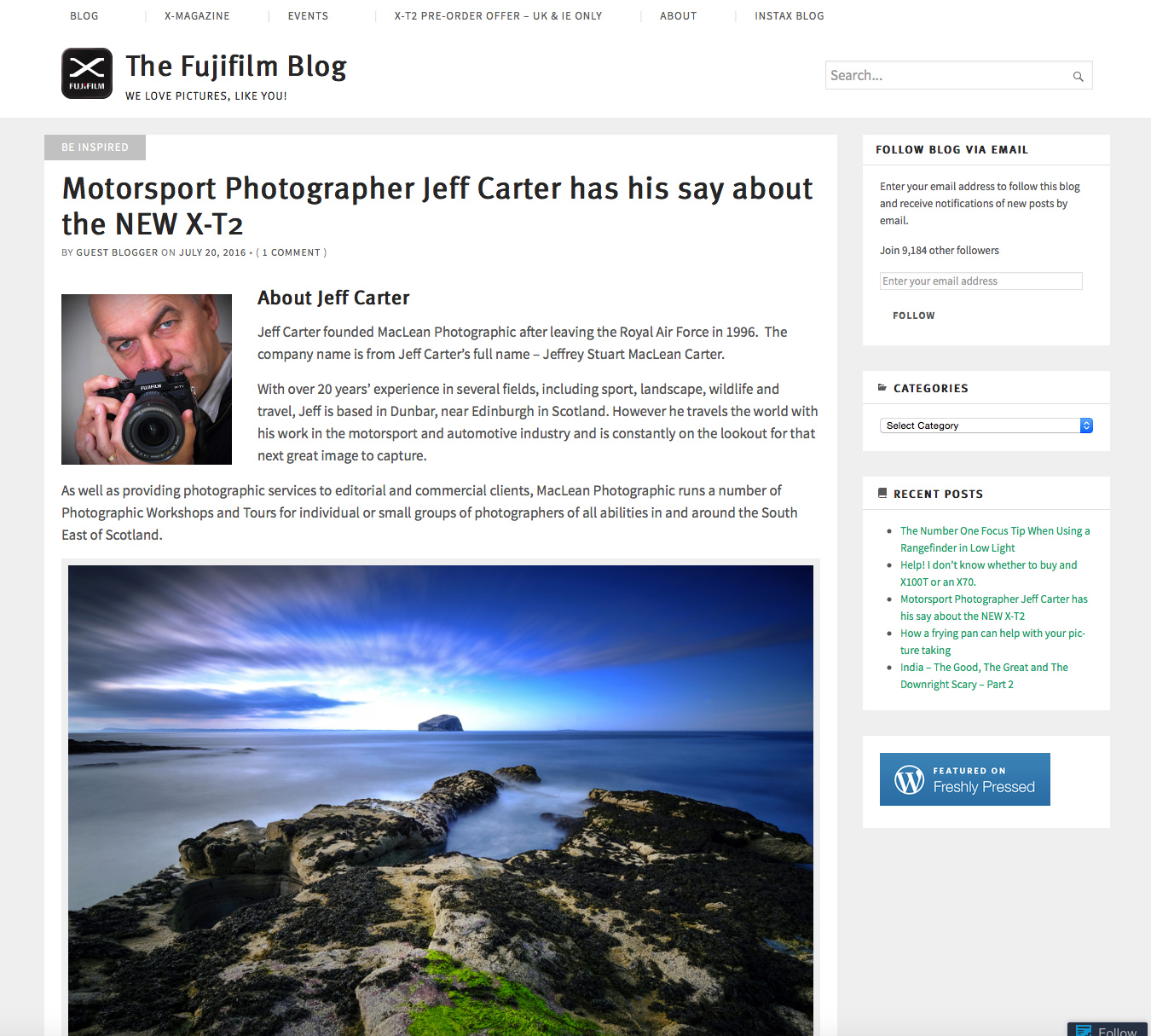 interviews online jeff carter fuji x adventure been two interviews maclean photographic s jeff carter posted online and he has also been featured in the latest edition of the fujilove emagazine