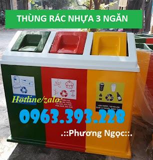 Diễn đàn rao vặt tổng hợp: Thùng rác 3 ngăn hình mái nhà, thùng rác composite 8730-5c3ef41f791af